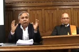 Tapan Ghosh, founder of Hindu Samhati, speaks at the Committee Room 12, House of Commons, Westminster on October 18.