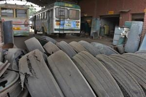 The state transport department allocated merely 54 tyres in September for a fleet of 1,870 buses (including PUNBUS) plying from 18 depots.