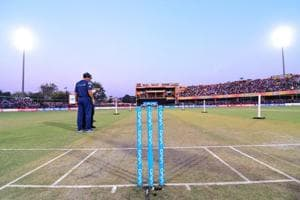 After Pune curator Pandurang Salgaonkar's suspension following a TV sting, focus has shifted to the Green Park in Kanpur (file pic), the venue for Sunday's third and final ODI between Indian cricket team and New Zealand cricket team. Pitch curators and ground staff are under strict vigil, and almost under detention by officials concerned.
