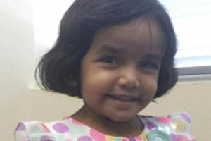 US authorities said the body of a girl found in a culvert about half a mile from her parents' home in suburban Dallas 'most likely' belongs to three-year-old Sherin.