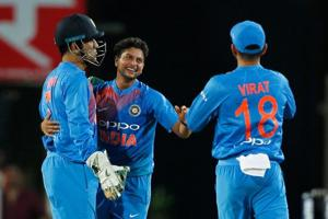 Since making his international debut against Australia earlier this year, Kuldeep Yadav has taken nine wickets in two Tests, 19 wickets in 12 ODIs and five wickets in four T20Is.
