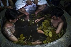 Photos: Battling drug addiction in Indonesia with hot herbal baths and prayers