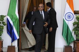 South African president Jacob Zuma in New Delhi, 2015