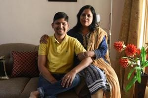 Sanjay Goel, a breast cancer survivor, at his house in Dwarka in New Delhi.