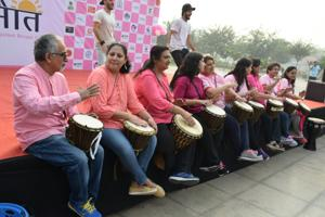 The participants danced, exercised and took part in fun activities.