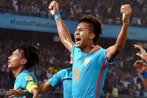 Jeakson Thounaojam became the first Indian player to score a goal at the FIFA U-17 World Cup.