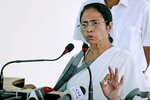 West Bengal chief minister Mamata Banerjee addresses a press conference at the State secretariat in Kolkata.