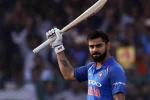 Virat Kohli slammed his 32nd ODIcentury and in the process, he created a new world record as he went past 9000 runs in just his 194th innings, making him the fastest batsman to achieve this feat.