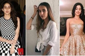 Get major fashion inspo from these most stylish celebrity kids: From left to right, Sara Ali Khan, Aaliyah Kashyap and Jhanvi Kapoor.