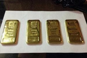 Acting on a tip-off, the customs searched the aircraft after the passengers deboarded and found gold bars under the cushion of seat 30F.