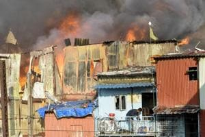 Officers said a few slum dwellers said they heard that their neighbours had set the fire.