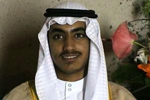 In this image from a video released by the CIA, Hamza bin Laden is seen as an adult at his wedding.