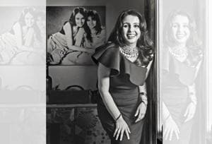 For Suchitra Krishnamoorthi, the best thing about motherhood is unconditional love. Suchitra wears a dress by Amy Billimoria. (Make-up and hair by Bharat & Dorris)