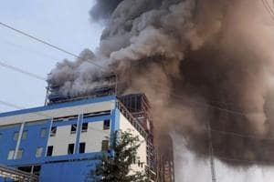 Smoke billowing out of NTPC