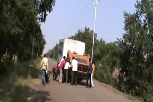 A screengrab of the accident at Baramati on October 29.
