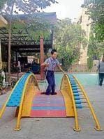 The project will be first of its kind in which  swings, seesaws and merry-go-rounds will be installed at various colony parks.