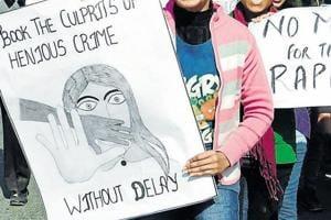 Protestors demand stringent punishment for rapist.