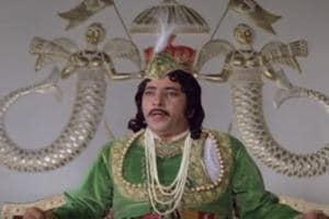 Amjad Khan in the film Shatranj ke khiladi.