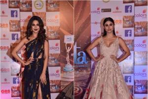 Jennifer Winget and Mouni Roy on the ITAAwards red carpet.