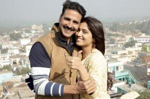 A still from the film Toilet: Ek Prem Katha, whose plot was aligned with the message of the Swachh Bharat campaign.