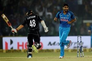 Jasprit Bumrah (R) has performed well so far in the India vs New Zealand cricket series.