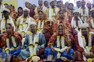 Photos: In Pune, a mass wedding ceremony for the visually impaired