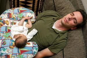 Baby blues: Depression is common among new fathers but may be harder...