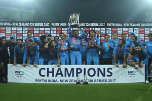 India beat New Zealand in rain-hit third T20, win series 2-1