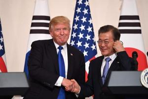 Donald Trump warns North Korea he's ready to use military force if...