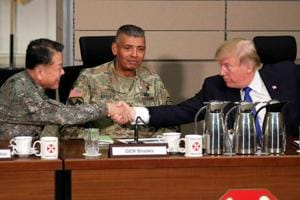 Donald Trump hails cooperation with South Korea, vows to address trade