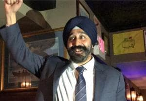 Sikh man described as 'terrorist' in flyers wins mayoral election in...