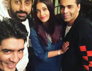 Aishwarya Rai, Abhishek Bachchan party with Karan Johar, Manish...