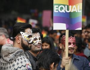Lesbian, Gay, Bisexual and Transgender activists during the Delhi Queer Pride march, 2015.   n 2014, a landmark Supreme Court judgment recognised that they should enjoy all the fundamental rights enshrined in the Constitution