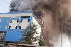 Smoke billows out of NTPC