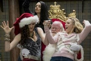 Ho ho no: Kathryn Hahn, Mila Kunis and Kristen Bell in A Bad Moms Christmas.