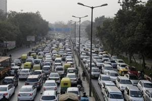 Smog-like conditions continued in Delhi on Thursday morning, with poor air quality and low visibility.