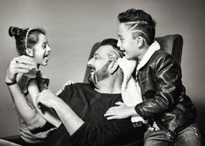 Having missed  most part of their childhood wonder years, Sanjay Dutt is bent on being a hands-on dad  (Styling by Naveen Shetty, make-up by Deepak Bhatte and hair by Sharik Mohammad +)