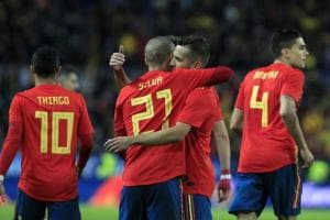 David Silva inspires Spain to 5-0 thrashing over Costa Rica in...