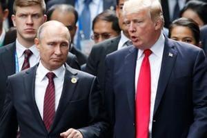 Trump says he believes US intel agencies on Russian meddling in 2016...