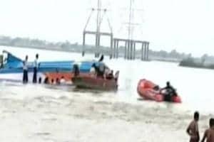 An overloaded boat carrying 38 people capsizedon Sunday close to the Pavitra Sangamam (confluence point of rivers Krishna and Godavari) at Ferry village near Vijayawada.