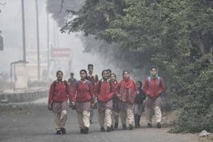 Delhi's schools reopened on Monday after remaining closed for four days due to pollution.