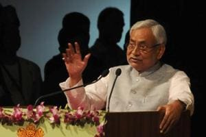 Bihar CM Nitish Kumar says the Gujarat election is not a semi-final for the 2019 Lok Sabha elections. (AP Dube / HT Photo )