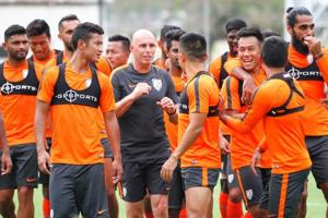 Indian football team coach Stephen Constantine's job not in danger:...