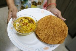 Daal Pakwan made by Kamala Hemrajani at her apartment in Defence Colony.