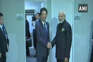 Prime Minister Narendra Modi on Tuesday held separate talks with his counterparts from Japan Shinzo Abe and Australia Malcolm Turnbull focusing on crafting a new strategy for the Indo-Pacific region.