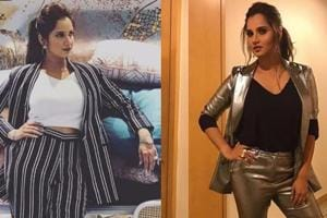 Sania Mirza is working metallic pantsuit like a boss. See pics
