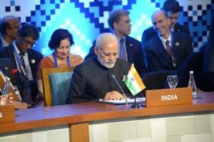 Prime Minister Narendra Modi participates in the East Asia Summit in Manila, Philippines.