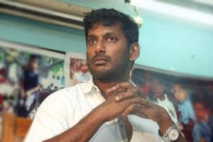 Watch: IT raid at actor Vishal's office. Or is it?