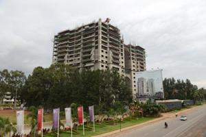A project coming up in Bengaluru. The housing ministry has recommended amendments to the Insolvency and Bankruptcy Code to protect homebuyers. (HT file photo)