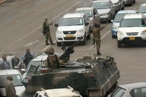 Photos: Military seizes power in Zimbabwe, denies coup against Mugabe
